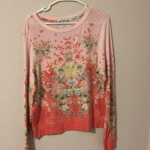 Pink/coral patterned sweater